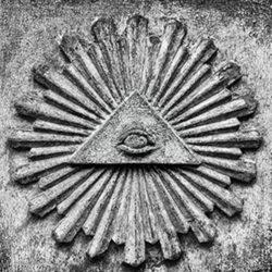 Eye in Pyramid stone symbol